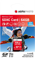 SDXC 64 GB UHS-I U3 V30 Agfa Photo 10428