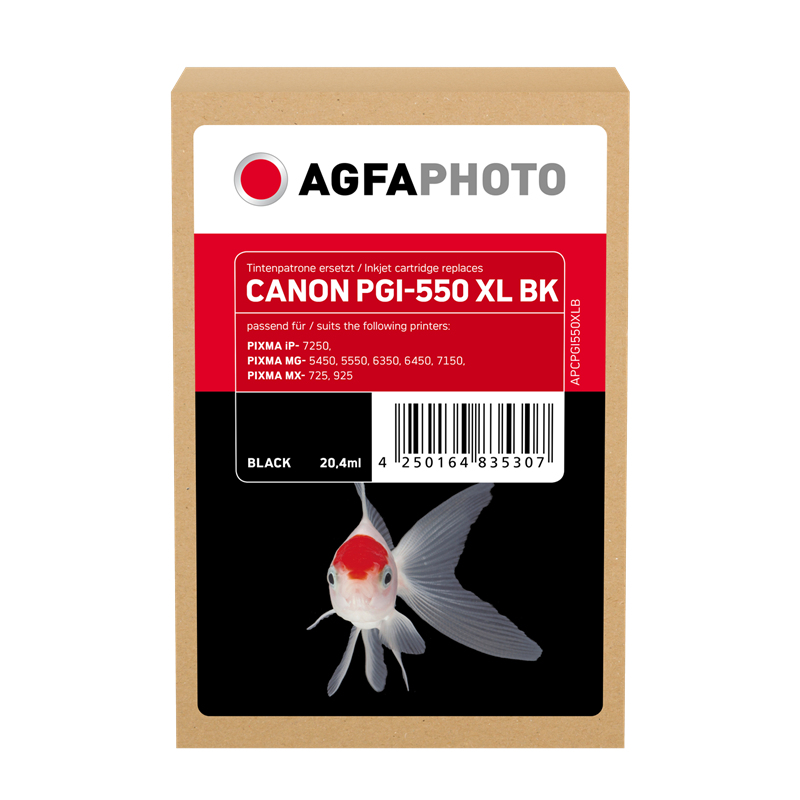 Cartucho de tinta Agfa Photo APCPGI550XLB