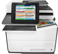 Dipositivo multifunción HP PageWide Enterprise Color MFP 586f
