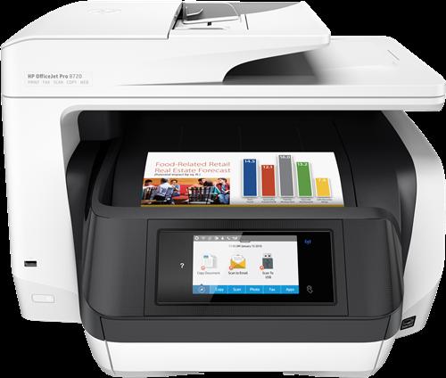 Dipositivo multifunción HP Officejet Pro 8720