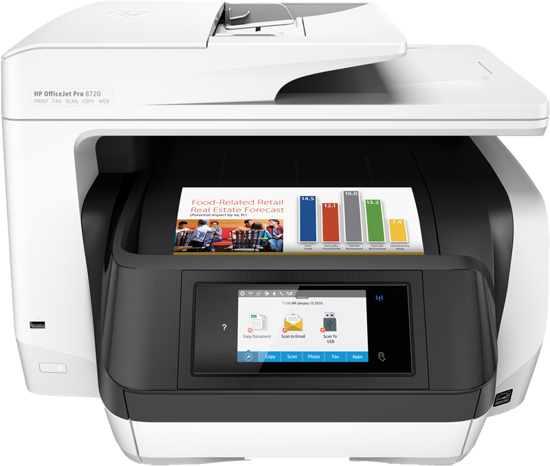 Impresora Multifuncion HP Officejet Pro 8720