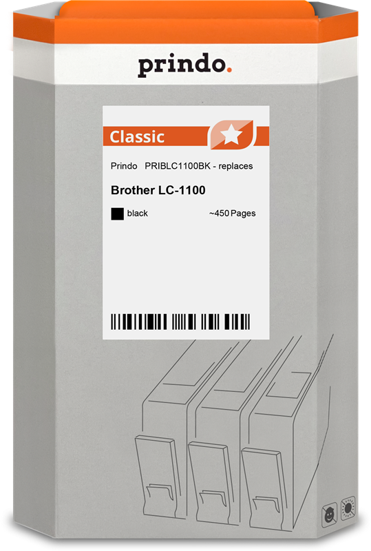 Cartucho de tinta Prindo PRIBLC1100BK