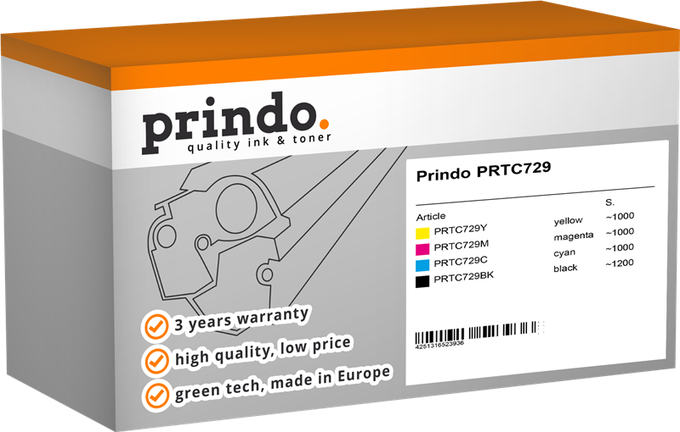 Value Pack Prindo PRTC729 Rainbow