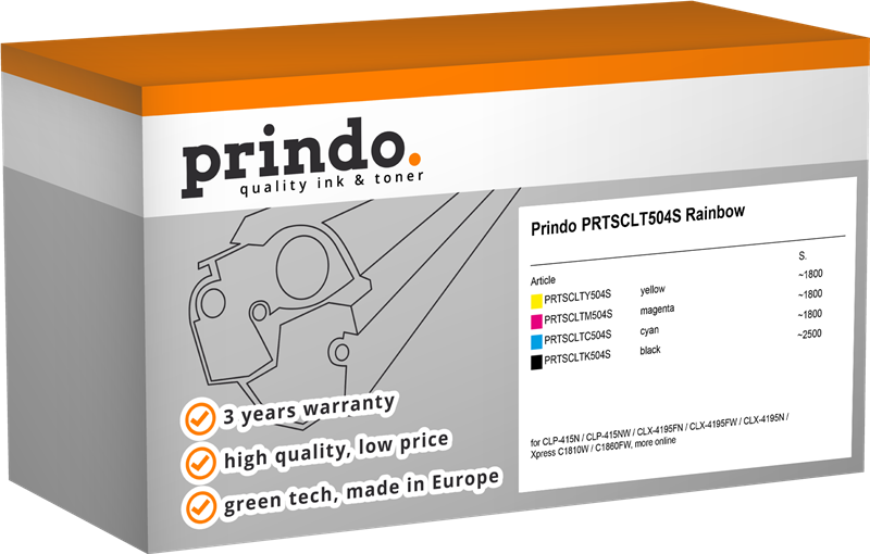 Value Pack Prindo PRTSCLT504S Rainbow