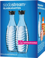 Sodastream Pack doble / 2x botellas cristal 0,6 L