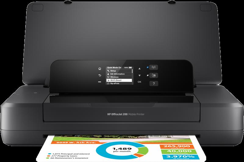 Impresora de inyección de tinta HP Officejet 200 Mobile